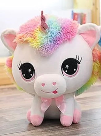 Unicorn Stuffed Animal Pink Hooves 14 Inch