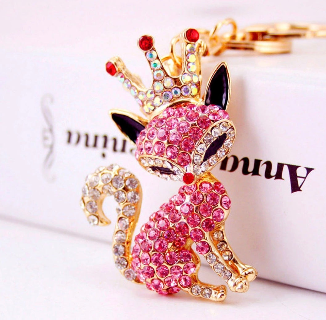 Pink Princess Purse Charm Keychain