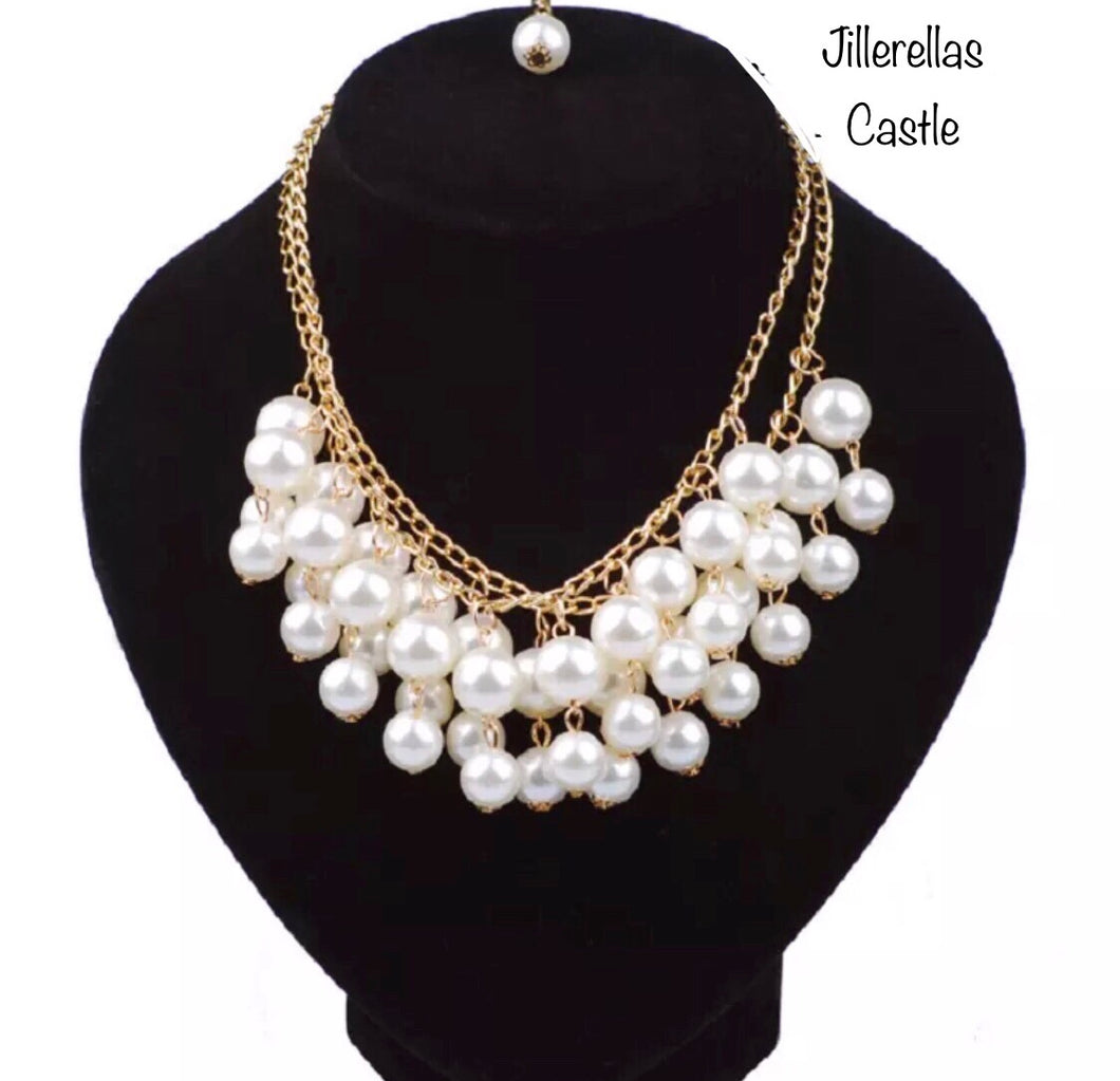 Alexis Pearl Multi Layer Necklace