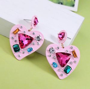 Swarovski Pink Speckled Earrings