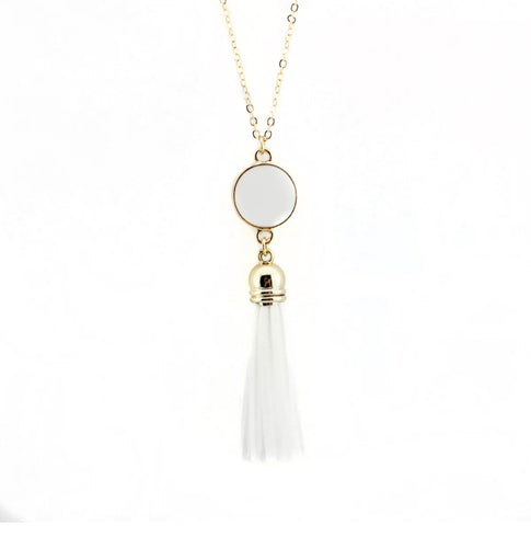 Dazzling French Fringe Necklace White