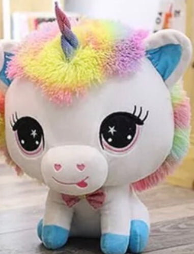 Unicorn Stuffed Animal Blue Hooves 14 Inch