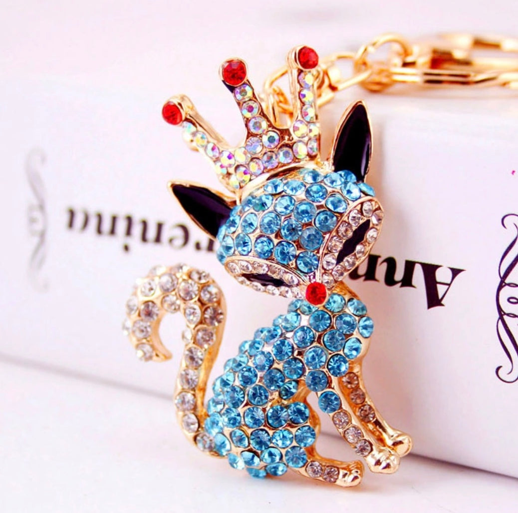 Blue Princess Purse Charm Keychain
