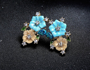 Swarovski Floral Garland Earrings
