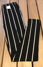 Leggings New With Tags Black White Pinstripe One Size Fits 0-14