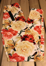 Leggings New With Tags Buttery Soft Coral Floral One Size Fits 0-14