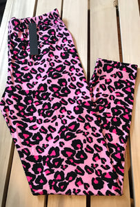 Leggings New With Tags Pink Leopard Curvy Plus Buttery Soft One Size Fits 16-22