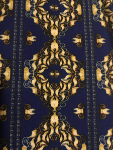 Leggings New With Tags Curvy Plus Blue Regal Motif Buttery Soft One Size Fits 16-22