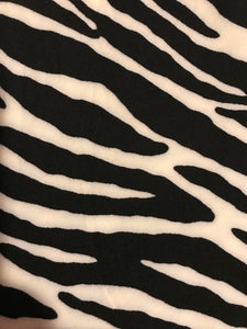 Leggings New With Tags Black White Zebra Buttery Soft One Size Fits 0-14