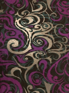 Leggings New With Tags Curvy Purple Swirl Buttery Soft One Size Fits 16-22
