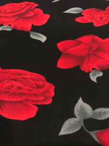 Leggings New With Tags Black Red Rose Buttery Soft One Size Fits 0-14