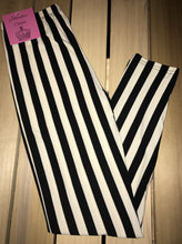 Leggings New With Tags Black White Stripe One Size Fits 0-14 Buttery Soft