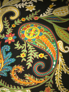 Leggings New With Tags Black Paisley Multi Color One Size Fits 0-14