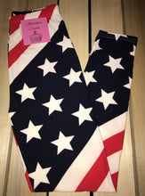 Leggings New With Tags Buttery Soft American Flag One Size Fits 0-14
