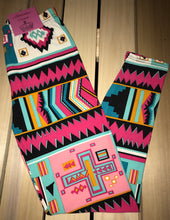 Leggings New With Tags Tribal Multi Color Buttery Soft One Size Fits 0-14