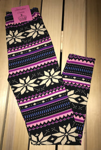 Leggings New With Tags Fair Isle Multi Color Buttery Soft One Size Fits 0-14