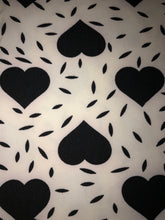 Leggings New With Tags White Black Heart Buttery Soft One Size Fits 0-14