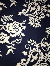 Leggings New With Tags Navy Blue White Floral Buttery Soft One Size Fits 0-14