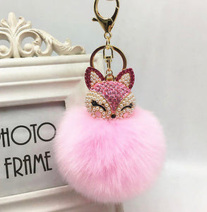 Key Chain Purse Charm New With Tags Light Pink Faux Fur