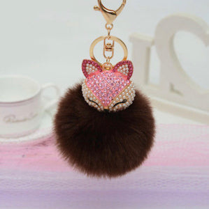 Key Chain Purse Charm New With Tags Chocolate Faux Fur