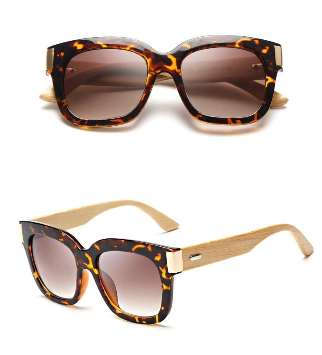 Chocolate Leopard Wood Sunglasses