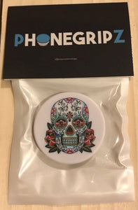 Skull Universal Phone Grip Pop Out PhoneGripz