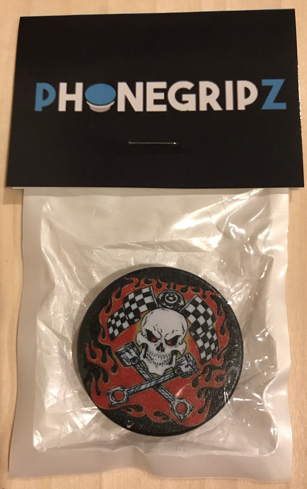 Racing Skull Universal Phone Grip Pop Out PhoneGripz
