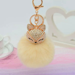 Key Chain Purse Charm New With Tags Soft Yellow Faux Fur
