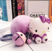 Hello Kitty Purse Charm Keychain Purple