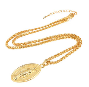 24 Karat Gold Plated Madonna Chain Necklace