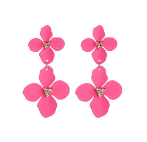 Pink Cosmos Earrings