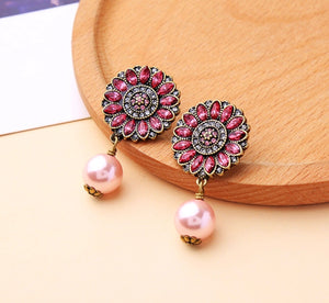Swarovski Pink Pearl Fiesta Earrings