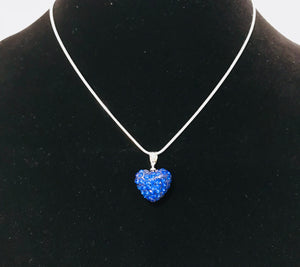 Australian Crystal Blue Heart Necklace
