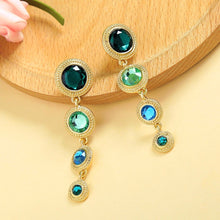 Swarovski Gala Blue Green Earrings