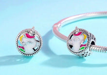 Unicorn Bead Charm Solid Sterling Silver And Enamel