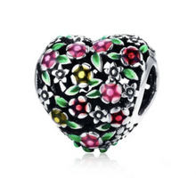 Garden of Eden Solid Sterling Silver Bead Charm