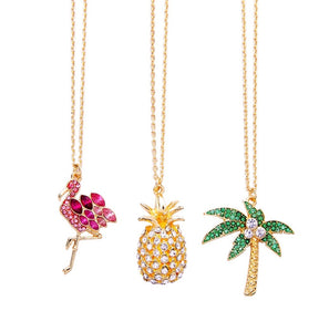 Luxe Palmetto Palm Necklace Gold Plated