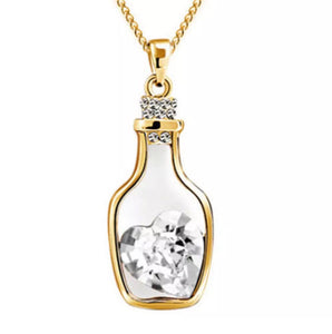 Australian Crystal Love Hope Necklace Gold Plated