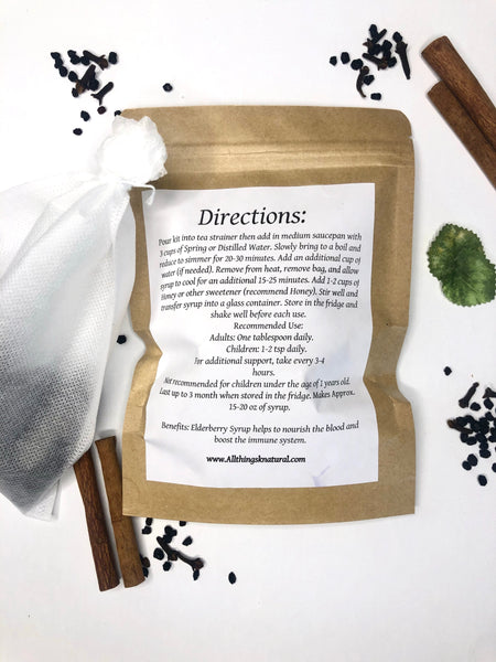 Organic Dried Elderberry Kit