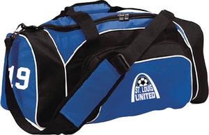 United Duffel bag with team number