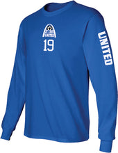 Load image into Gallery viewer, United Long Sleeve T-Shirt - Arch Logo with Player #