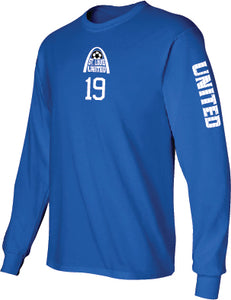 United Long Sleeve T-Shirt - Arch Logo with Player #