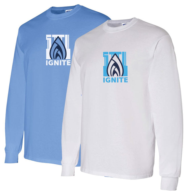 Ignite Long Sleeve Tshirt Flame Logo (ADULT)
