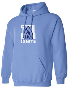 Ignite Hoodie Flame Logo Ignite Blue/Navy (Adult and Youth)