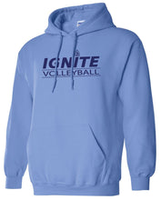 Load image into Gallery viewer, Ignite Hoodie Volleyball Ignite Blue/Navy (Adult and Youth)