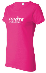 Ignite Volleyball T-Shirt Logo-Ladies