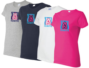 Ignite T-Shirt Flame Logo-Ladies