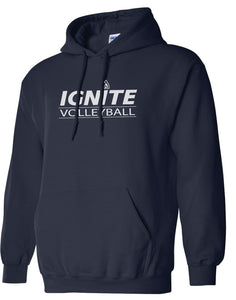 Ignite Hoodie Volleyball Pink/Navy (Adult and Youth)
