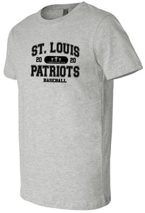 Patriots Collegiate Logo - Premium T-Shirt - 100% Ringspun Cotton (ADULT and YOUTH)