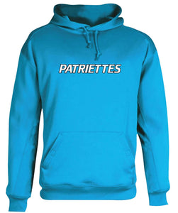 Patriettes Standard Logo - Performance Hoodie Sweatshirt - 100% Poly (ADULT and YOUTH)